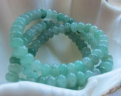 Green Aventurine Beads Rondelle 6 mm x 4 mm QTY 25