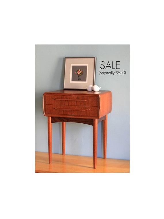 Reserved for Sam ---- Danish Modern Nightstand - Bedside Table - Johannes Andersen