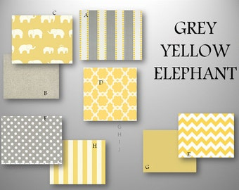 Design Custom Baby Crib Bedding Grey Yellow Chevron Prints