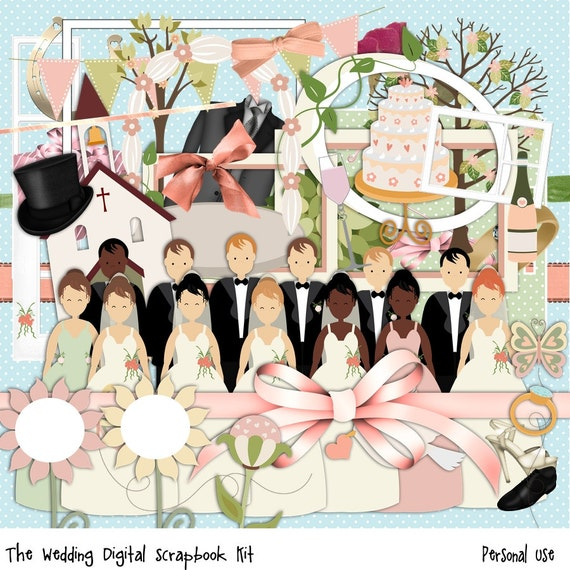 free wedding scrapbook clipart - photo #16