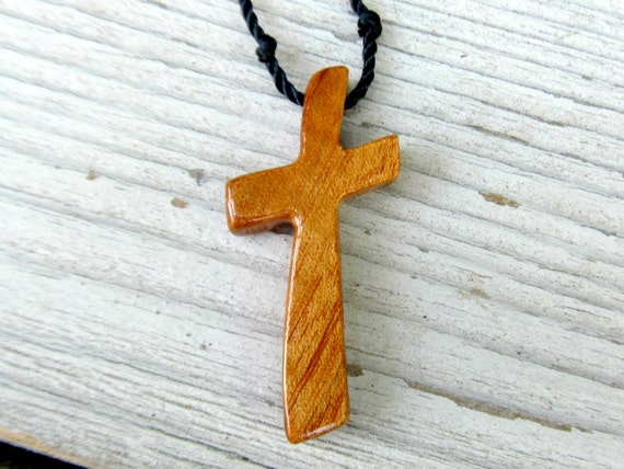 Mens Cross Jewelry - Brazilian Tigerwood - Hand Crafted Cross Necklace