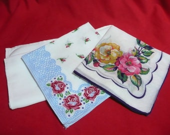 Three Vintage Handkerchiefs