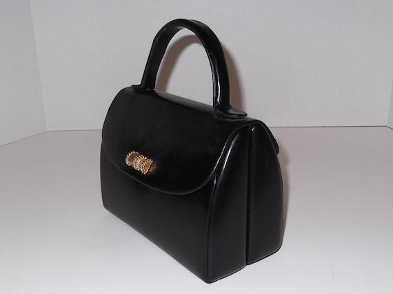 Vintage Koret Calfskin Purse, Handbag Sak's Fifth Av / Vintage Purse / Black Purse