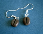 Cocoa Bean Earrings with Sterling Silver Hooks