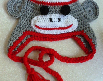 Baby or Toddler or Child Monkey Hat