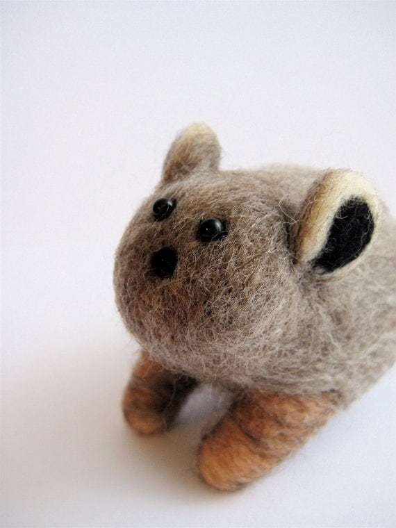 modflowers: needle felted animal Pika by IFeltFuzzy