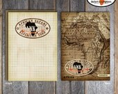 Safari Party - Thank You Notes & Wrap Around Address Labels - Printable (Jungle, Wild Animal, Zoo, African, Adventure, Expedition, Vintage)