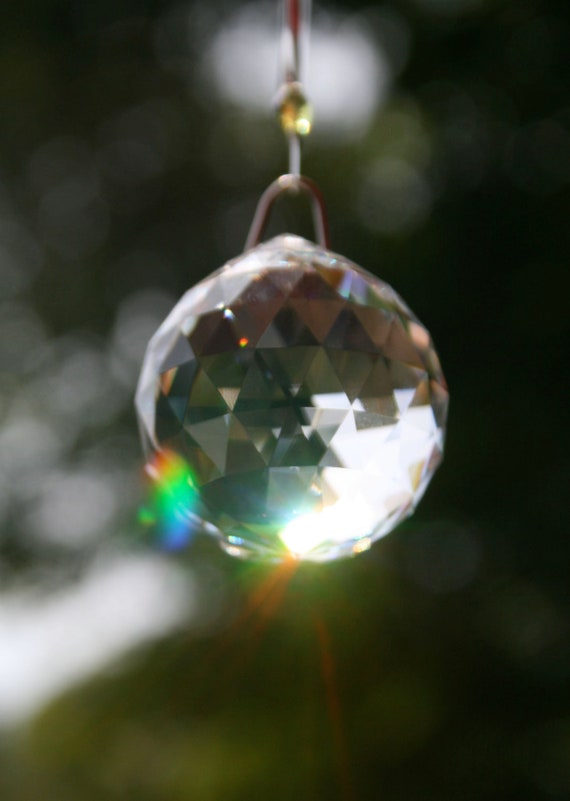 Swarovski Crystal Suncatcher-Clear Sphere