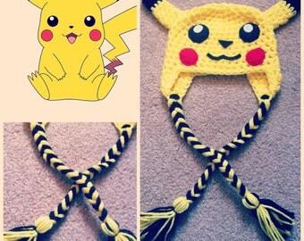 Crochet Pikachu Beanie/Hat
