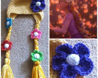 Crochet Tangled Rapunzel Beanie/Hat
