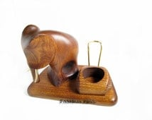 """New Exceptional Wooden Pipe Stand for Tobacco Smoking Pipe . Handmade Ash-Tree """"ELEPHANT"""".....LIMITED Edition....."""