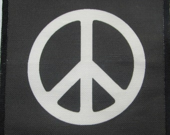 Printed Sew On Patch - PEACE - Simple and to the point - Vest, Bag, Backpack, Jacket