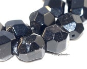 Black Aura Hypersthene Gemstone Hexagon Faceted Nugget Cube 10X8MM Loose Beads 8 inch Half Strand (90106875-120)