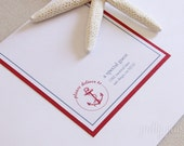 DIY Nautical Wrap-Around Address Labels : Custom Printable PDF (A2)
