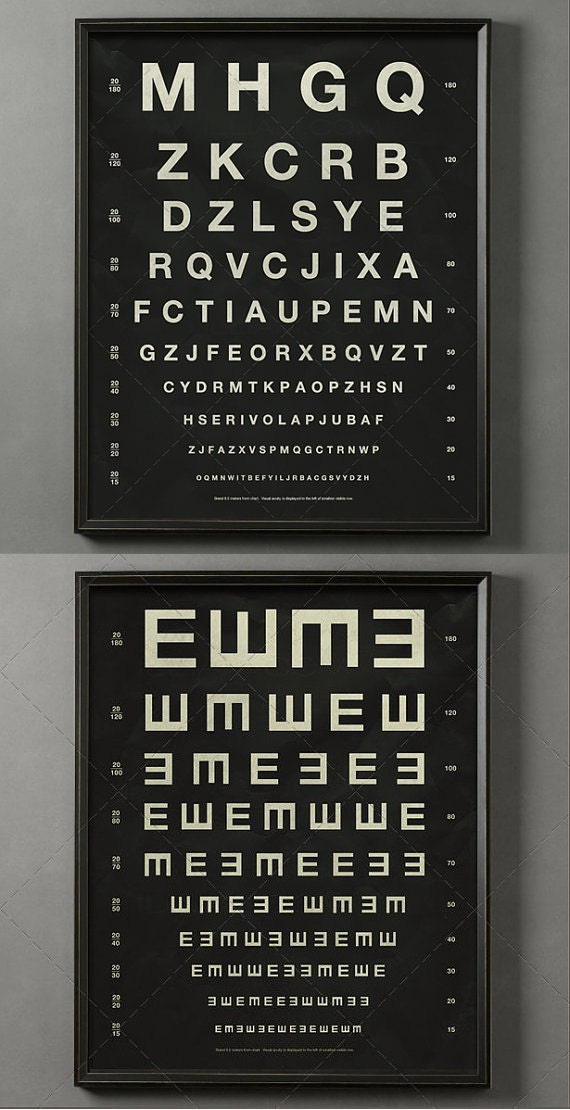 Herman Snellen Vintage Eye Charts Letters Amp By Foundryco