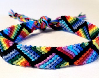 Rainbow Zig Zag - Friendship Bracelet