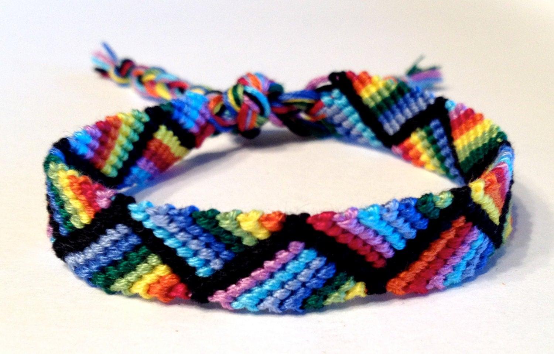 rainbow zig zag friendship bracelet