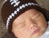 Newborn Football Beanie Hat/Newborn Photo Prop