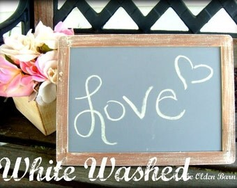 Large 12X9  your choice of vintage distressed or white washed chalkboard