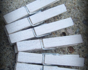 Set of 100 Shabby Chic Simple glitter clothespins