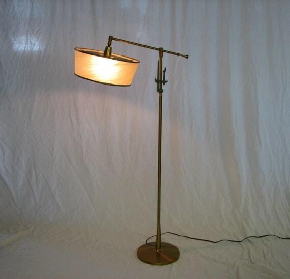 Mid Century Modern, 1950's-1960's Rembrandt floor lamp fiberglass shade t shape
