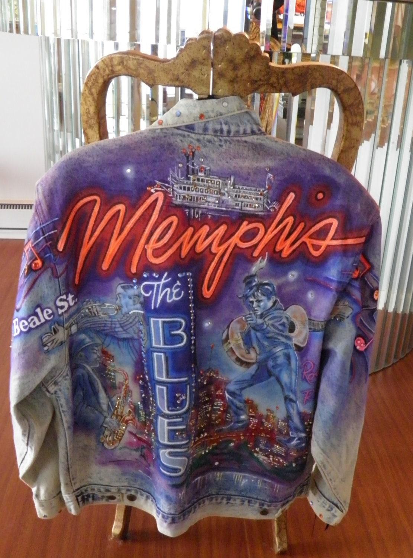 Tony Alamo Rhinestone Denim Jacket Memphis Elvis Jazz