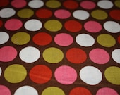 CLEARANCE - Riley Blake Fabric - 1 Yard of Indian Summer Big Dot in Brown