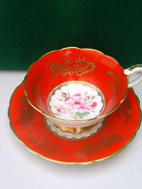 Royal Stafford Tea Cup and Saucer reserved for Natalie.