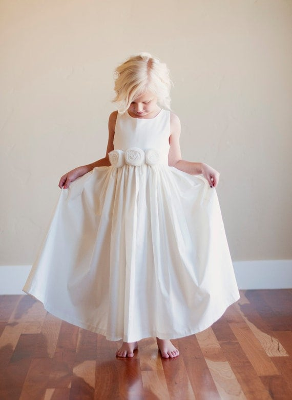 Flower girl dress rustic flower girl bridesmaid dress for Country wedding flower girl dresses