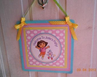 Dora The Explorer Door Sign-Dora the Explorer Wall Hanging-Dora the Explorer Birthday Decoration-Dora the Explorer Decoration