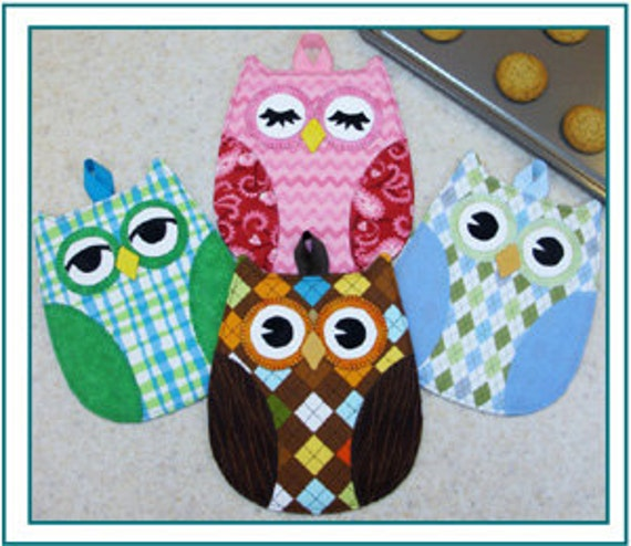 Owl Hot Pads, Trivets,  Hot Who, Pattern