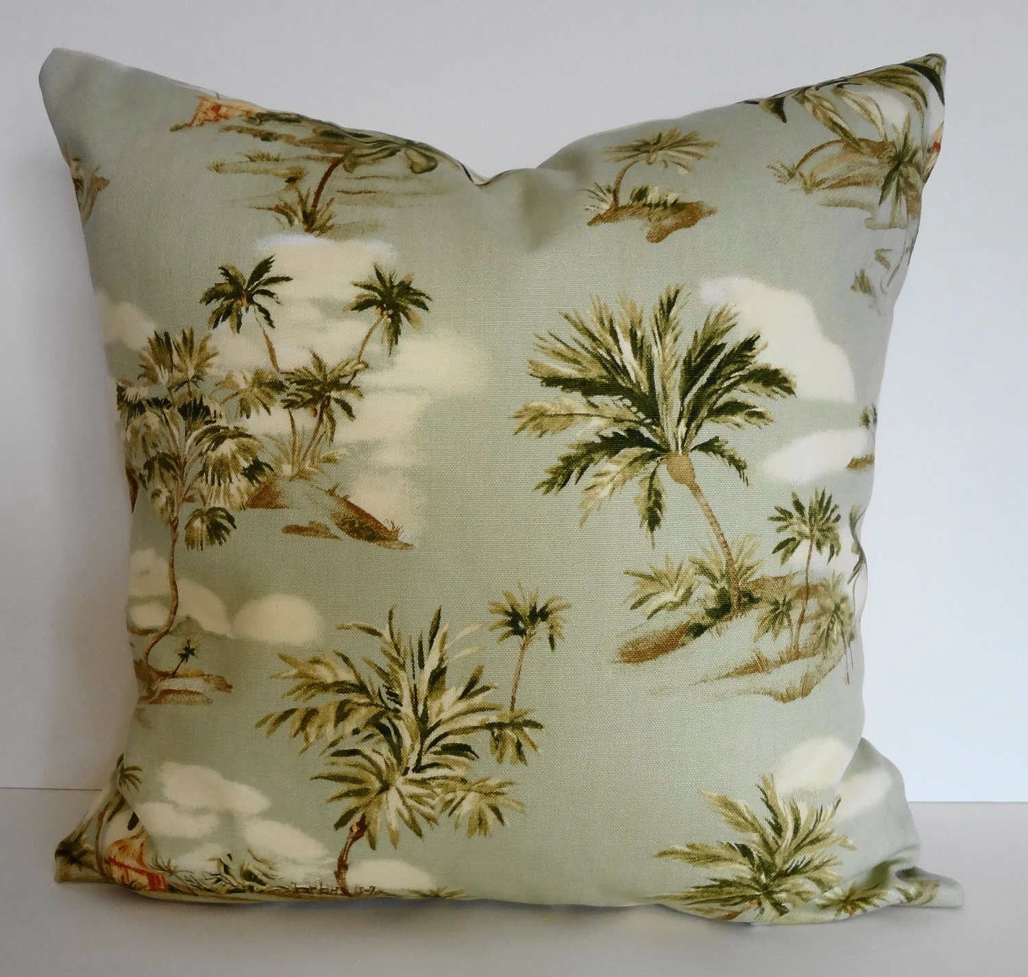 Tropical Throw Pillows For Couch : Tropical Throw Pillow Cover Hawaiian Print Ametex Designs