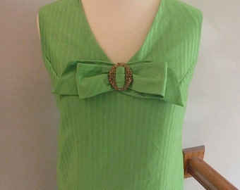 1970s Green Go-Go Dress
