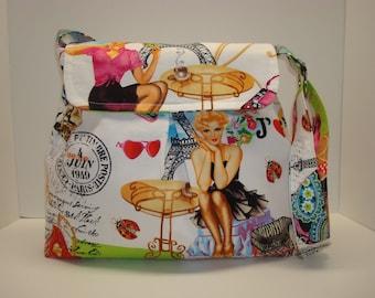 Cute cotton cross body bag
