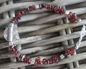 Energy bracelet unisex, Bracelet for career and business success. Gemstone garnet bracelet
