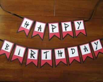 Ninja Happy Birthday Pennant