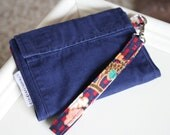iPhone Wristlet Wallet: Coast Guard Uniform Upcycle