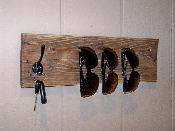 Reclaimed Wood Sunglasses and Keys Holder