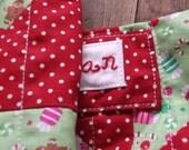 Personalised Christmas stocking, patchwork, custom made