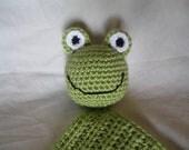 Crochet Frog Baby Blanket