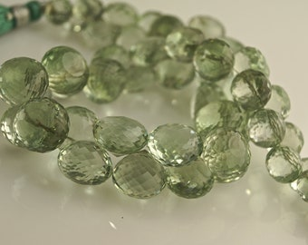 AAA full strand 9 inches 12-10 mm green amethyst onion