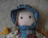 Vintage Original Holly Hobbie Doll, Soft, Collectible, from the 70's