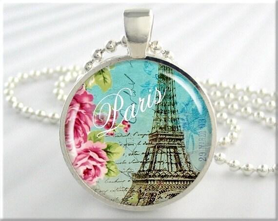 Paris Art Pendant Paris France Jewelry Necklace Eiffel Tower