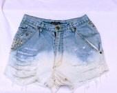 Star Studded Dip Dye Vintage Shorts
