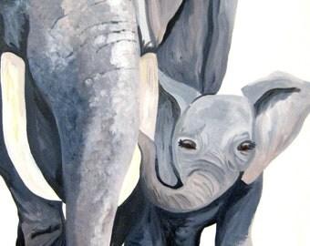 The Elephants (Original Acrylic on Canvas) - Kim.T 11