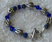 Cobalt Blue Bracelet w/.silver