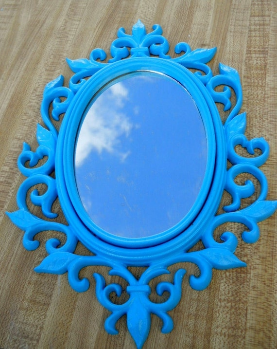 Sycro Vintage Mirror Ornate Scroll frame looking glass fairy princess