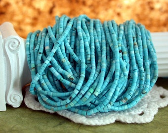 Turquoise Beads, Small Hand Cut Turquoise Heishi Beads SP-143