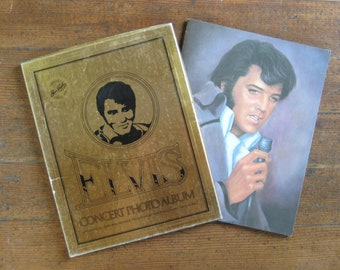 Vintage Book - Elvis Concert Photo Album and Souvenir Pamphlet with Extras (1977)