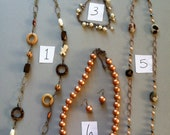 CLEARANCE BLOWOUT. Handmade Necklaces, earrings, anklet. More to come
